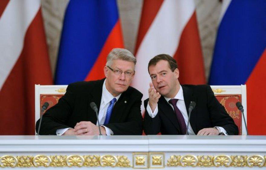 Valdis Zatleris ir Dmitrijus Medvedevas