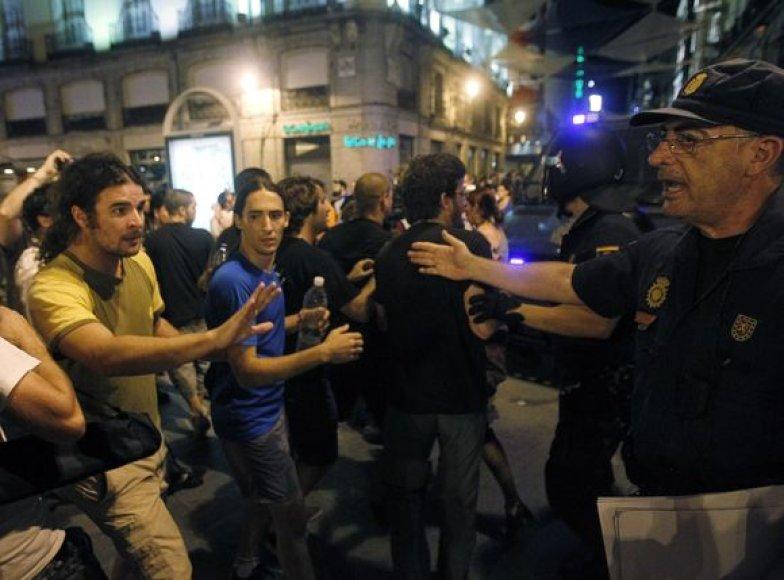 Protestuotojai Madride