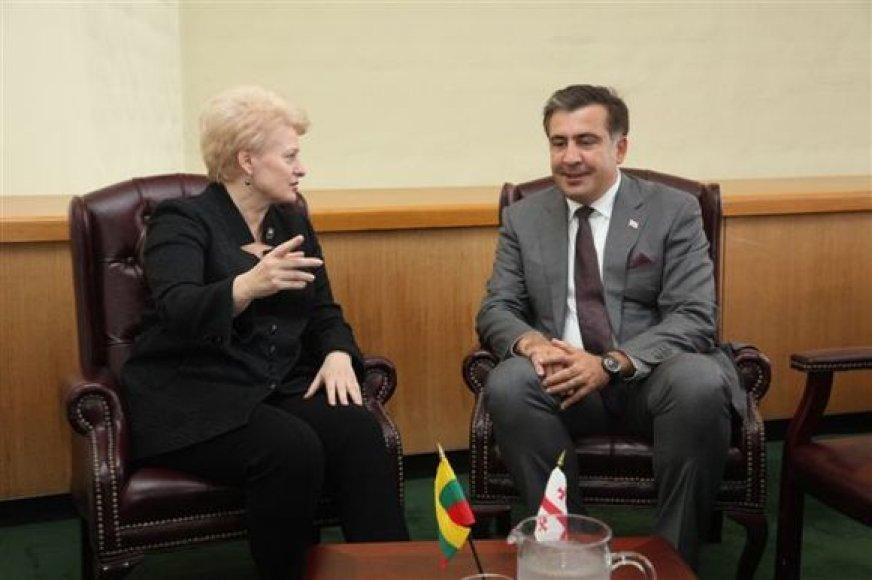Michailas Saakašvilis ir Dalia Grybauskaitė