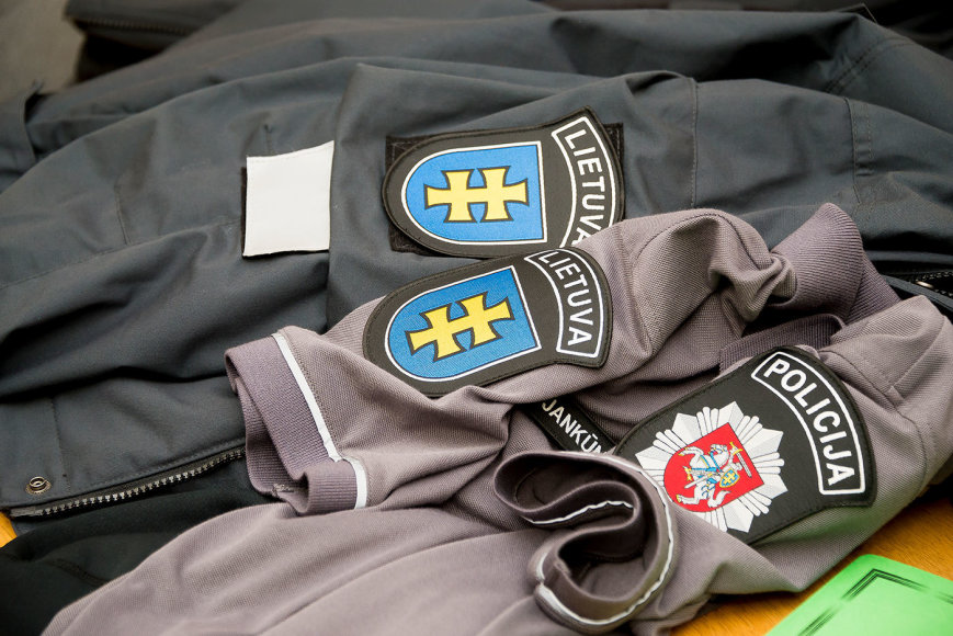 Policijos departamento nuotr./Naujo pavyzdžio uniformų pristatymas