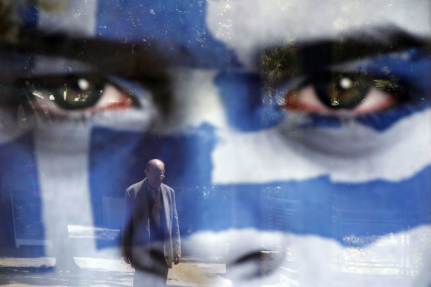 Rinkiminis plakatas Graikijoje