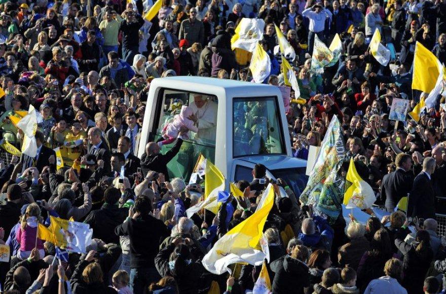 Popiežiaus vizito akimirka