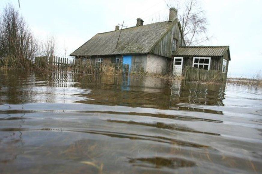 Vakarų Lietuvoje vanduo kyla