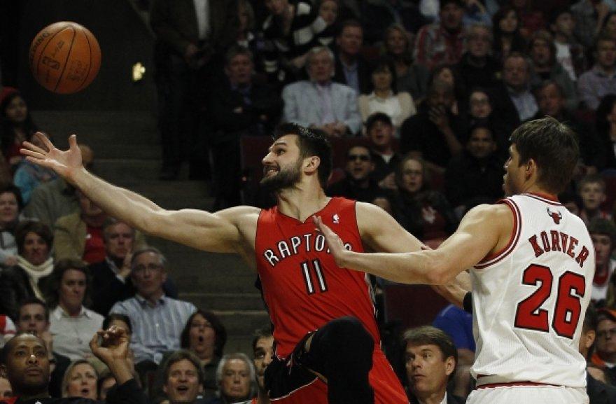 """Linas Kleiza į """"Bulls"""" krepšį įmetė 7 taškus."""