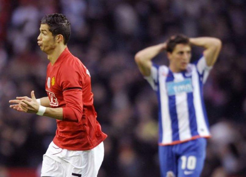 """""""Manchester United"""" vakar tapo pirmuoju britų klubu įveikusiu """"Porto"""" ekipą Portugalijoje."""