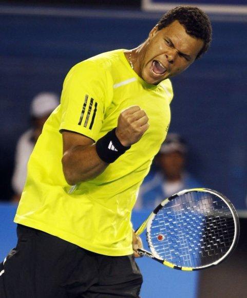 """J.W.Tsonga """"Didžiojo kirčio"""" serijos teniso turnyre žais antrą kartą per savo karjerą"""