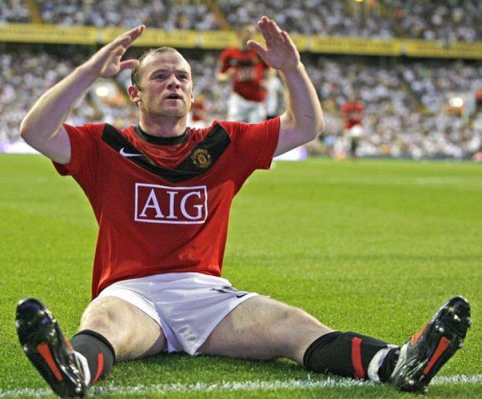 """W.Rooney per 24 šiame sezone """"Premier"""" lygoje sužaistas rungtynes jau pelnė 21 įvartį"""