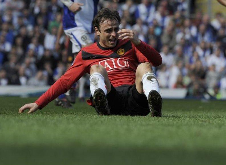 "D.Berbatovas neblizga ""Manchester United"" gretose"