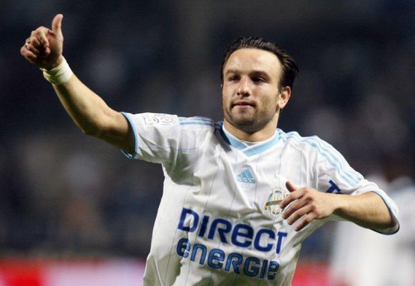 """Pergalingą įvartį """"Olympique"""" įmušė M.Valbuena"""