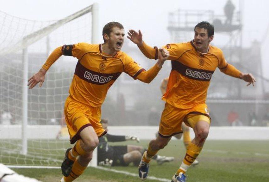 """""""Motherwell"""" futbolininkai išplėšė neįtikėtinas lygiąsias"""