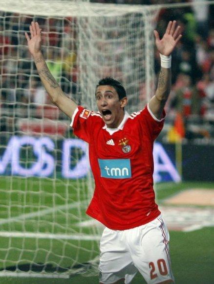 """A.Di Maria šį sezoną buvo """"Benfica"""" lyderis"""