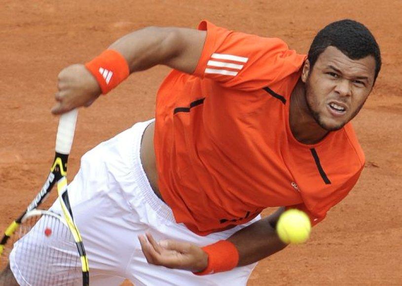 Didžiausia Prancūzijos teniso viltis J–W.Tsonga sėkmingai įveikė ir antrą ratą
