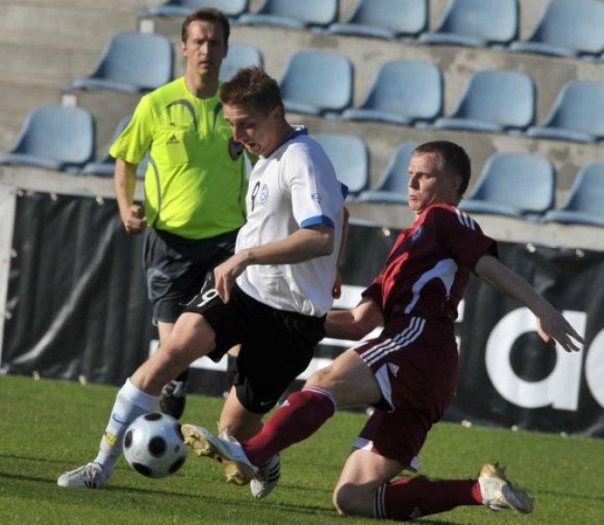 Su Estijos (balt. apr.) ir Latvijos (raud. apr.) futbolo rinktinėmis Lietuva jėgas išbandys 53–ąjį kartą istorijoje