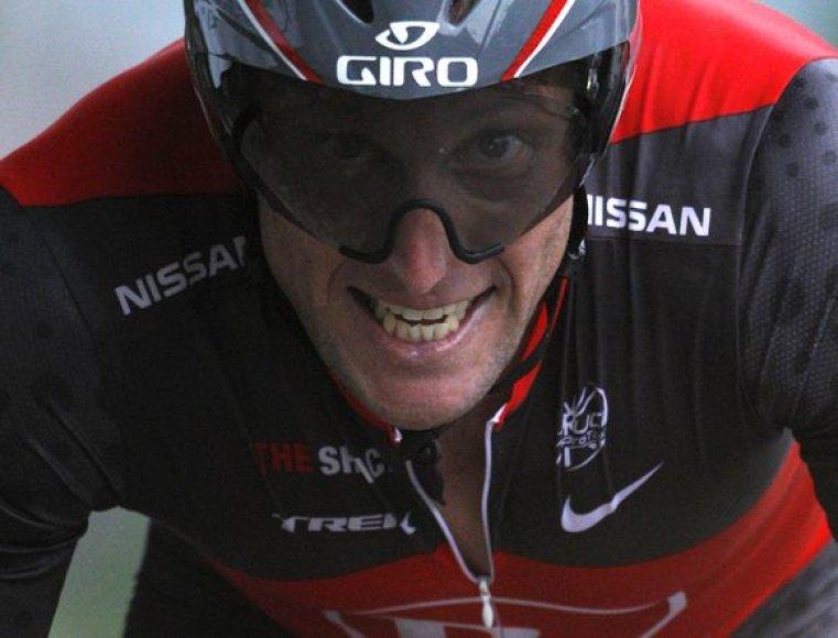 """L.Armstrongas pernai """"Tour de France"""" lenktynėse buvo trečias"""