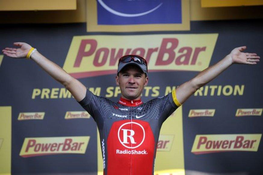 """S.Paulinho džiaugsmas laimėjus dešimtąjį """"Tour de France"""" lenktynių etapą"""