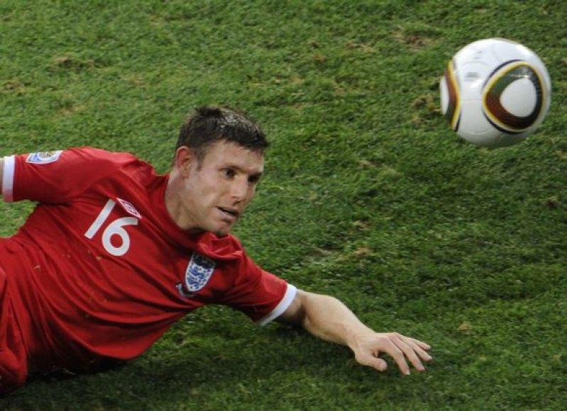 J.Milneris buvo nesėkmingai šią vasarą pasaulio futbolo čempionate PAR pasirodžiusios Anglijos rinktinės narys