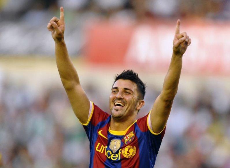 D.Villa džiaugiasi įvarčiu