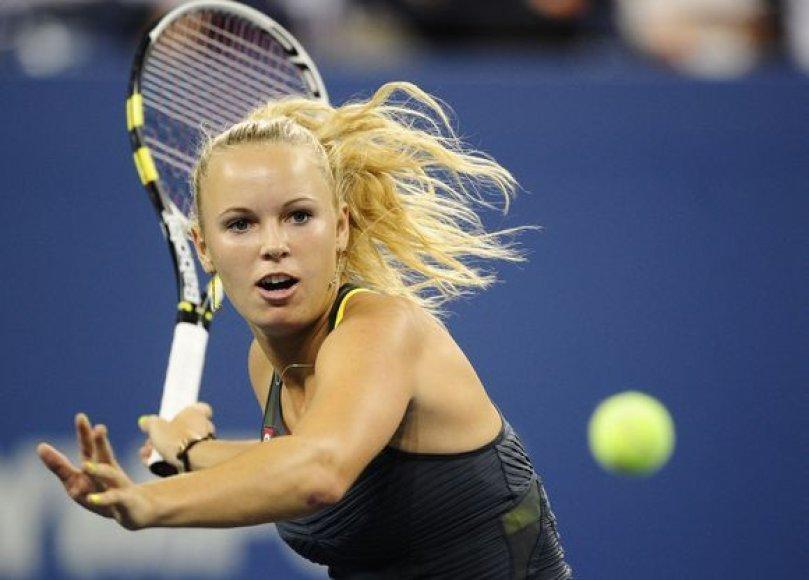Moterų favoritė danė C.Wozniacki žengė į pusfinalį
