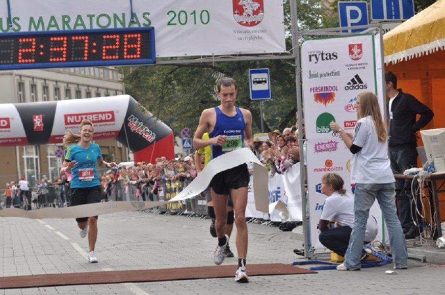 Vyrų maratoną laimėjo T.Venckūnas