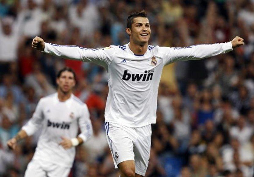 C.Ronaldo džiaugiasi įvarčiu