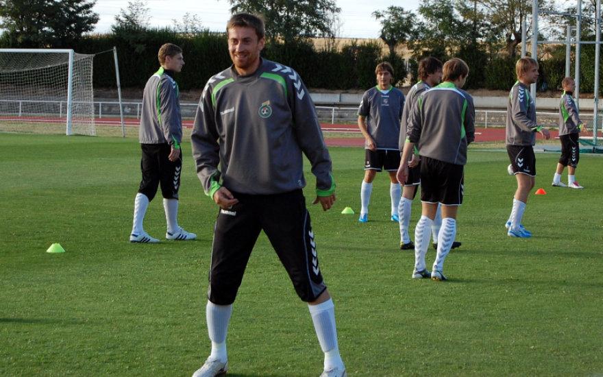 33 metų A.Skerla yra daugiausia rungtynių Lietuvos futbolo rinktinės sužaidęs futbolininkas