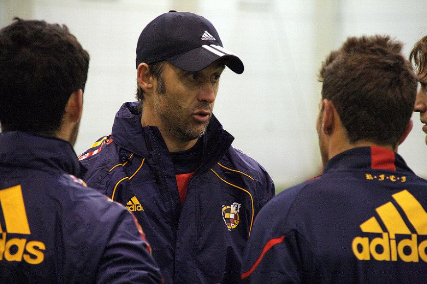 Ispanų treneris J.Lopetegui teigė, jog su lietuviai žaisti lengva nebus