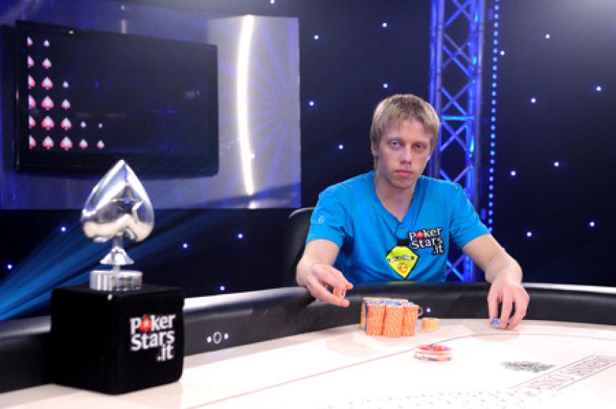 """Klaipėdietis A.Adomkevičius, pokerio bendruomenei pažįstamas slapyvardžiu """"Baneris"""""""