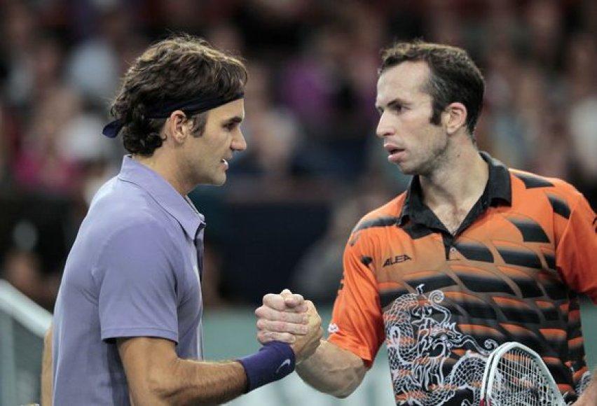 R.Federeris (kairėje) įveikė R.Štepaneką