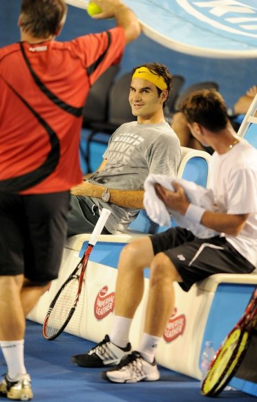 Rogeris Federeris ir Ričardas Berankis (dešinėje).