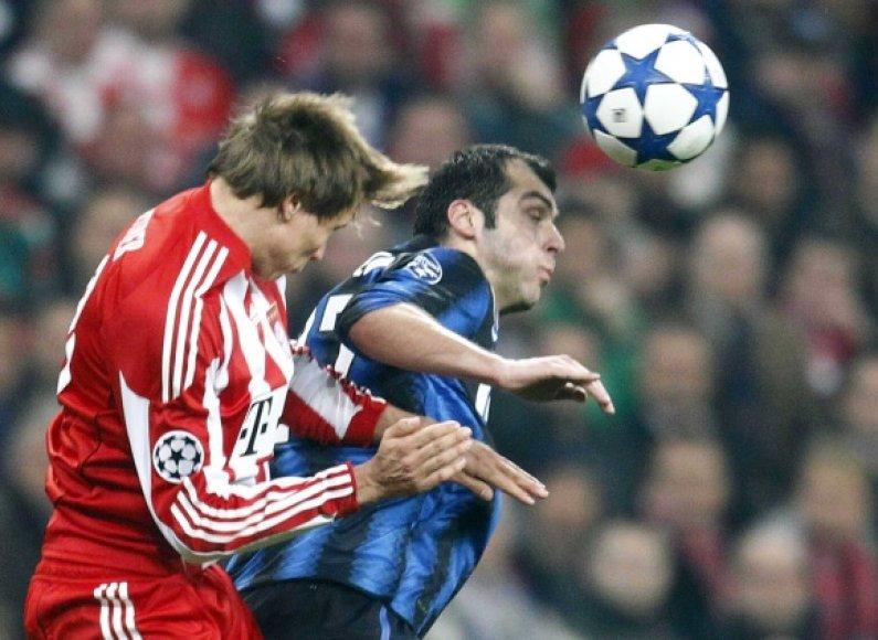 """""""Inter"""" didvyriu tapo Goranas Pandevas (dešinėje)."""