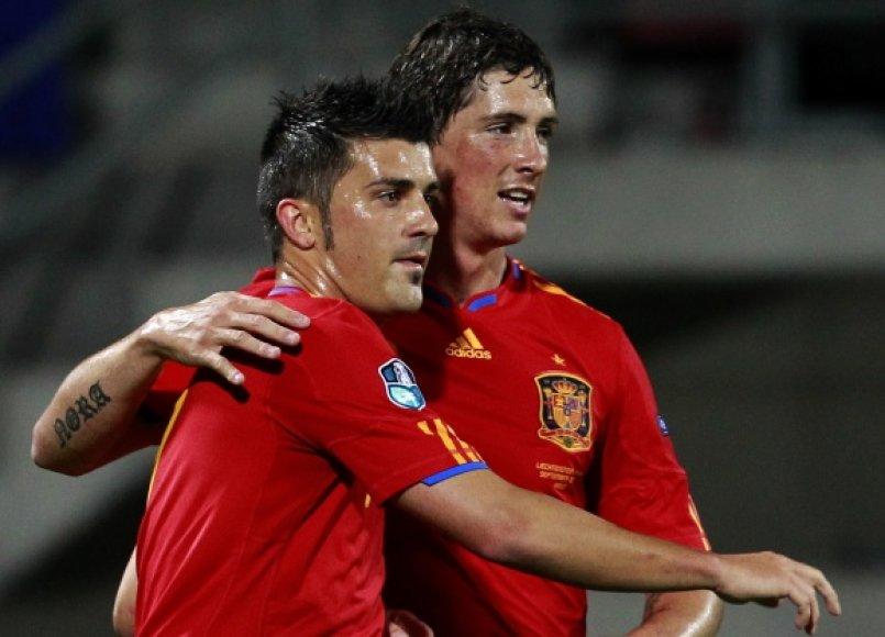 Ispanijos rinktinėje bus ir Davidas Villa, ir Fernando Torresas.