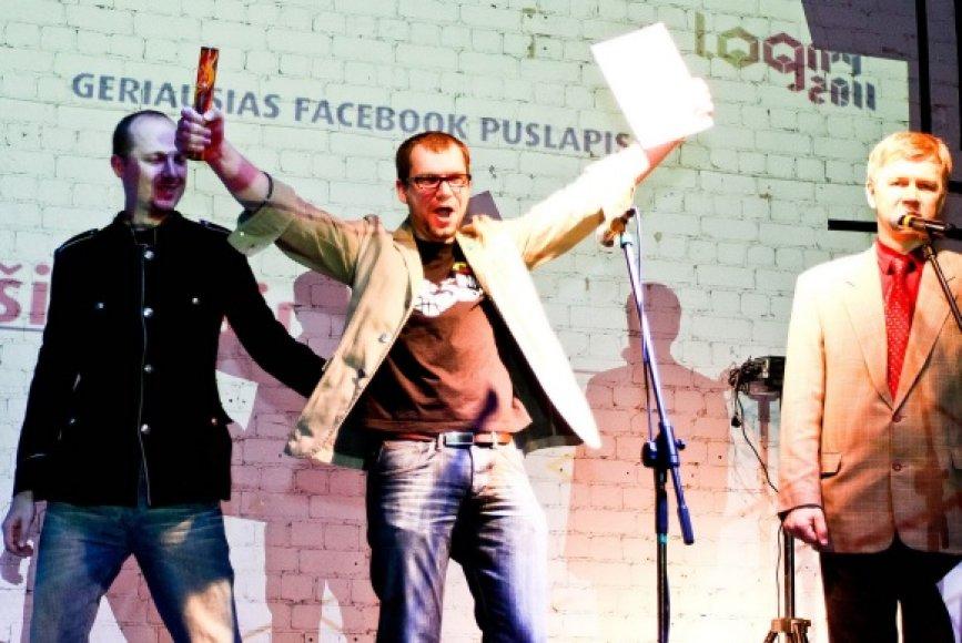 """Tomas Tumalovičius triumfuoja """"Login"""" apdovanojimuose."""