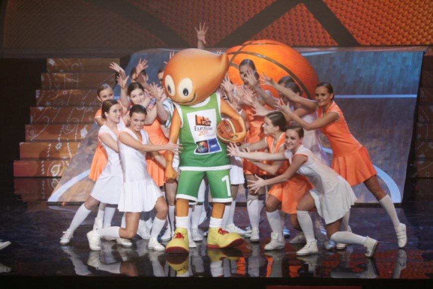 Oficialus Europos vyrų krepšinio čempionato Lietuvoje talismanas – Amberis.