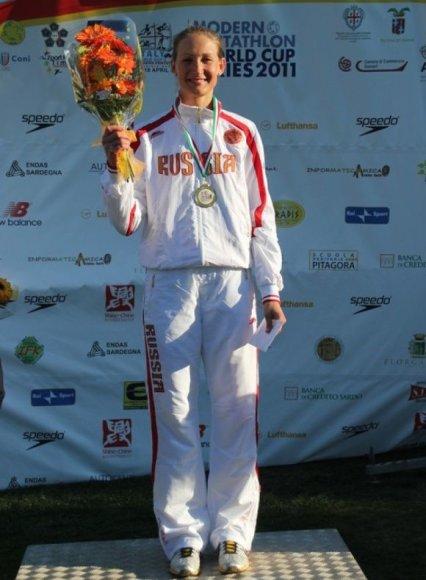 Donata Rimšaitė antrajame planetos etape iškovojo pirmąjį medalį Rusijai.