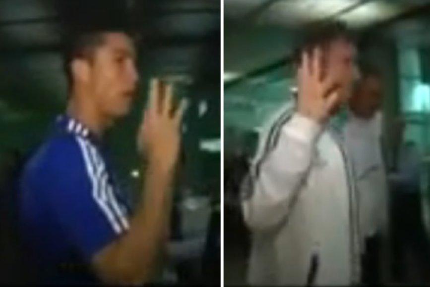 Cristiano Ronaldo ir Jose Mourinho atsisakė duoti interviu, bet savo nuomonę išsakė kaltinančiais gestais.