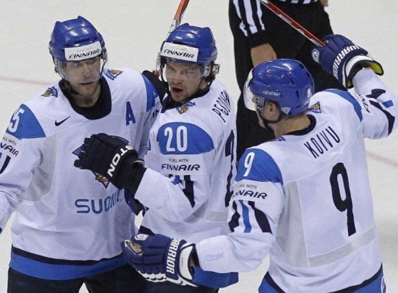 Suomijos ledo ritulininkų džiaugsmas.