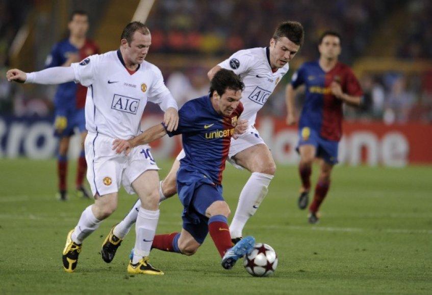 """""""Manchester United"""" sieks revanšo prieš """"Barceloną""""."""