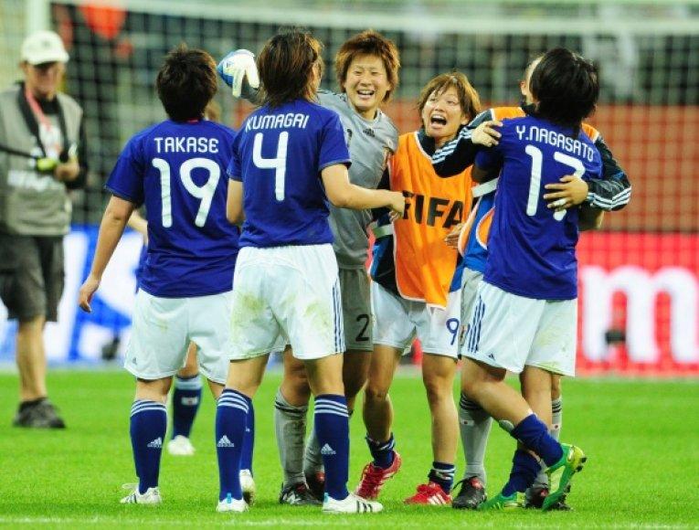 Japonės į pasaulio moterų futbolo čempionato finalą pateko pirmą kartą.