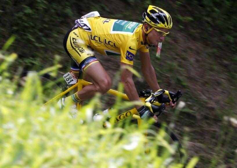 """""""Tour de France"""" lenktynių lyderių išlieka prancūzas Thomas Voeckleris."""