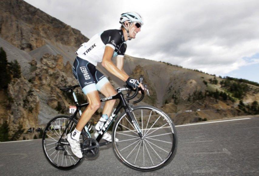 Andy Schleckas bendrojoje įskaitoje pakilo į antrą vietą