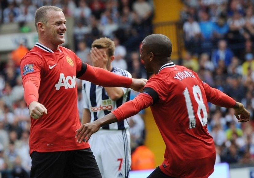 """""""Manchester United"""" šventė pirmąją pergalę."""