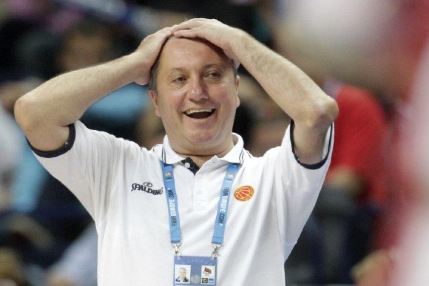 Makedonų treneris Marinas Dokužovskis žadėjo kovą Lietuvai.