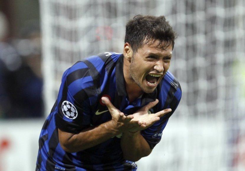 """""""Inter"""" žaidėjų nusivylimas."""