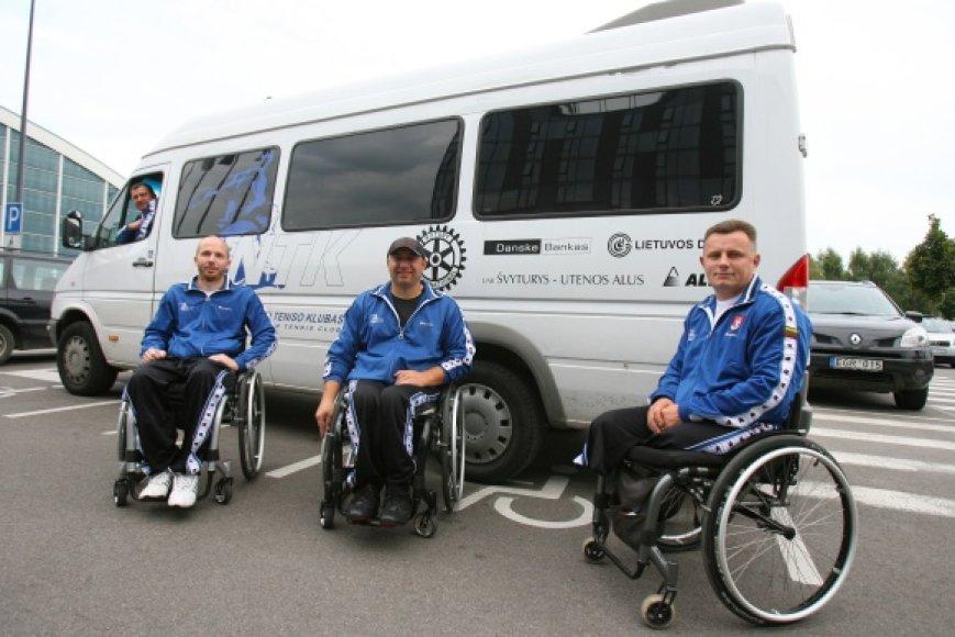 Atnaujintas reikalingas transportas neįgaliųjų teniso klubo nariams suteikė galimybę sudalyvauti reitinginiuose turnyruose.