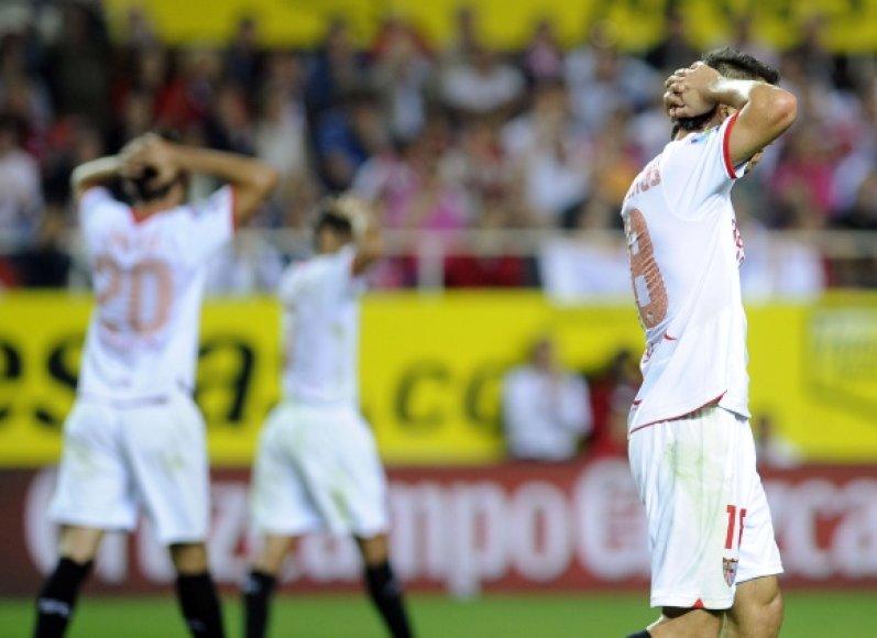 """Sevilla"" futbolininkų nusivylimas."