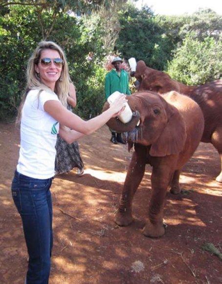 Gisele Bundchen Kenijoje