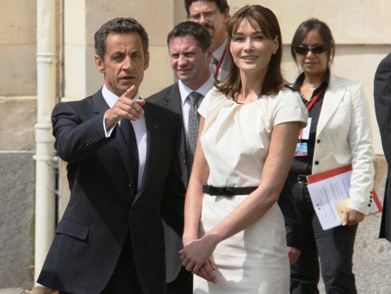 Pirmoji Prancūzijos pora Nicolas Sarkozy ir Carla Bruni-Sarkozy