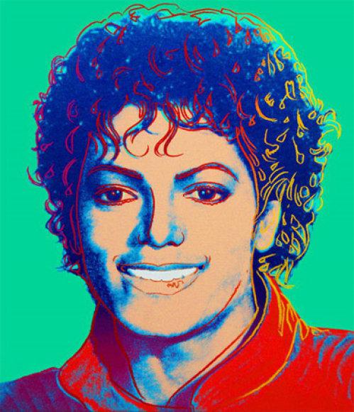 Andy Warholo tapytas M.Jacksono portretas.
