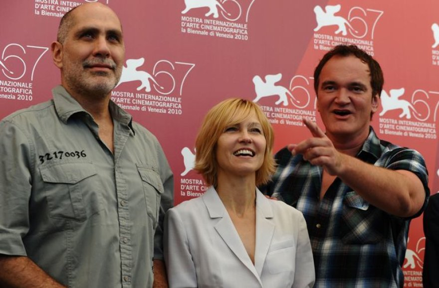 Komisijos nariai iš kairės: meksikiečių rašytojas Guillermo Arriaga, aktorė Ingeborga Dapkūnaitė ir žiuri pirmininkas Quentinas Tarantino