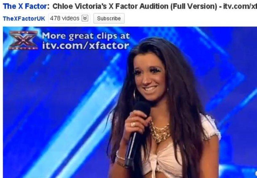 """""""X Factor"""" dalyvė Chloe"""